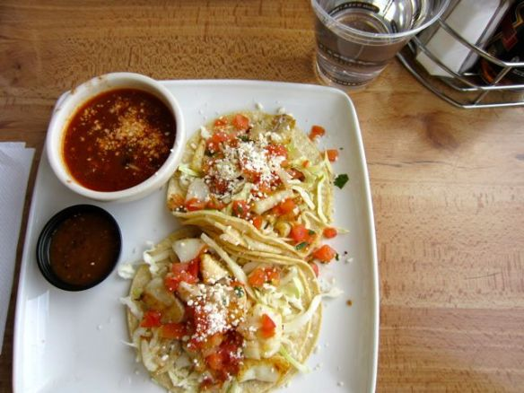 fish tacos at Lowell's