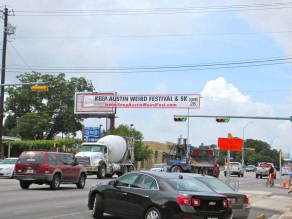 Keep Austin Weird sign on South Congress Street