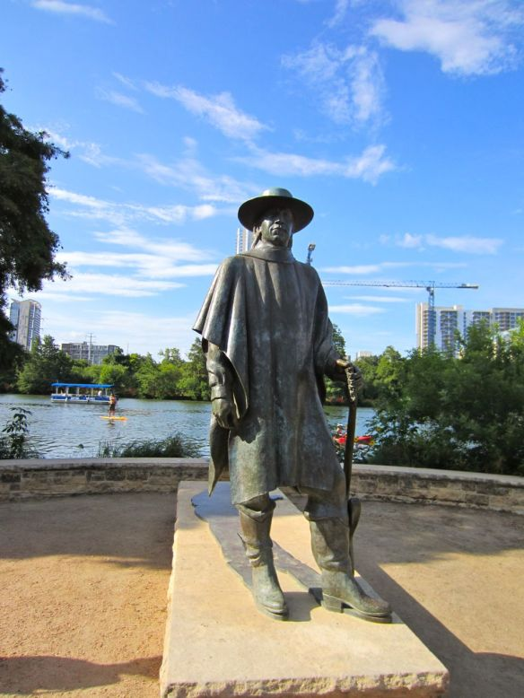 Stevie Ray Vaughan statue by Town Lake