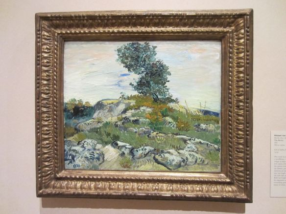 The Rocks by Vincent van Gogh, 1888.