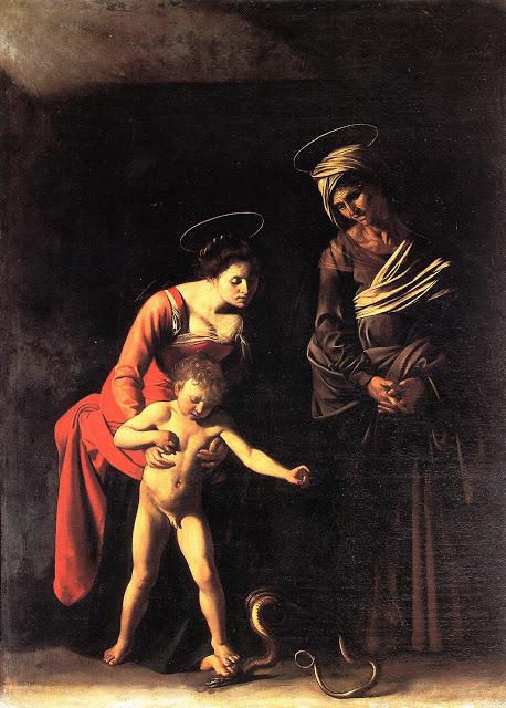 Madonna of the Palafrenieri by Caravaggio. 1605-1606.