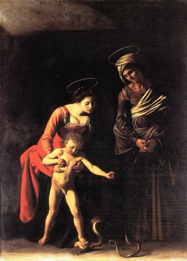 Madonna of the Palafrenieri by Caravaggio. 1605-1606.