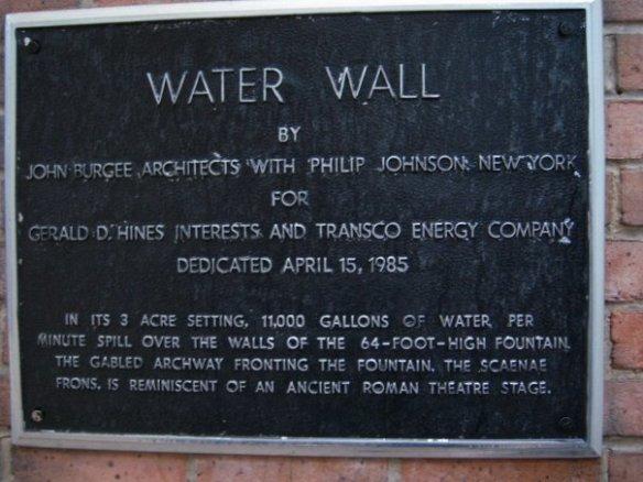 WaterWall Plaque