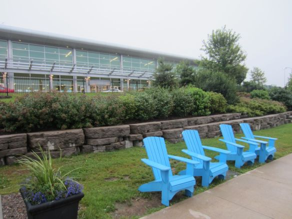 My first photo of Halifax, waiting for the bus to take me downtown from the airport. These Adirondack chairs are everywhere!