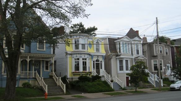 I loved all the bright, colourful homes in the Maritimes.