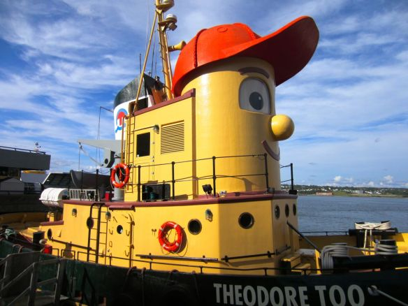 Look what I found! Theodore Tugboat lives in Halifax Harbour! I watched this show with my brother every Saturday morning as a kid.