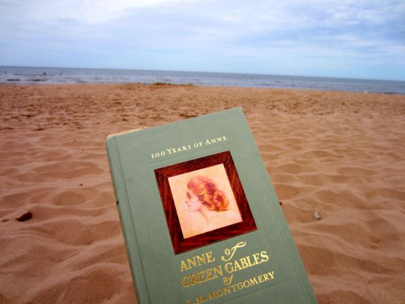 Reading Anne on Cavendish Beach