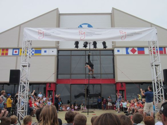 One of the acts at the Halifax Busker's Fest.