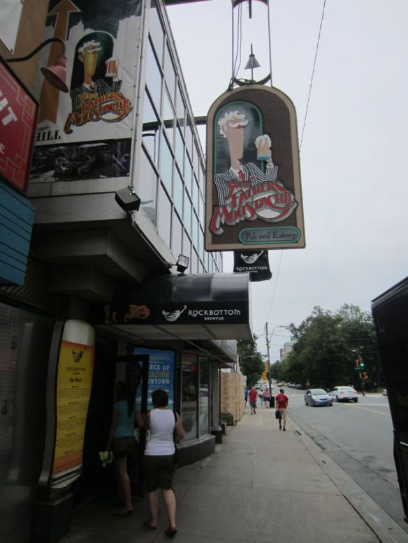 A local Halifax restaurant my friends and I ate at.